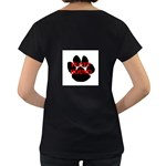 Plott Hound Name Paw Women s Loose-Fit T-Shirt (Black) Back