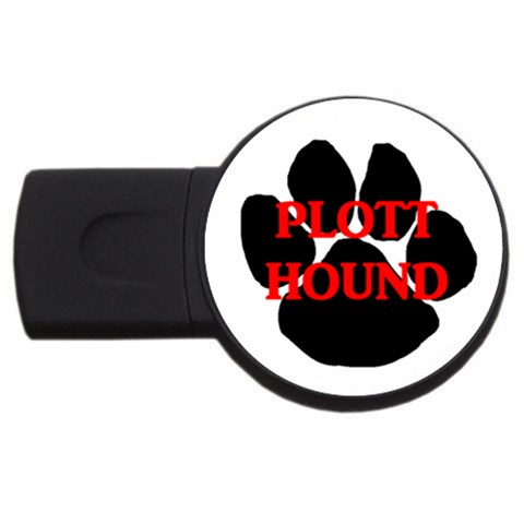 Plott Hound Name Paw USB Flash Drive Round (4 GB)