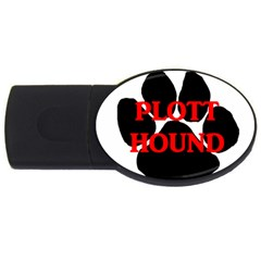 Plott Hound Name Paw USB Flash Drive Oval (4 GB)