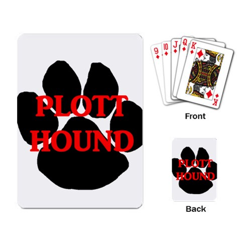 Plott Hound Name Paw Playing Card