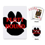 Plott Hound Name Paw Playing Card Back