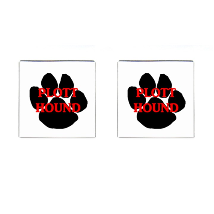 Plott Hound Name Paw Cufflinks (Square)
