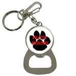 Plott Hound Name Paw Bottle Opener Key Chains Front