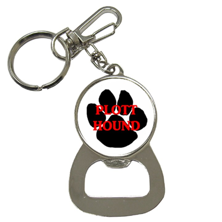 Plott Hound Name Paw Bottle Opener Key Chains