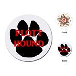 Plott Hound Name Paw Playing Cards (Round)  Front