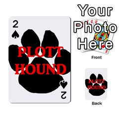 Plott Hound Name Paw Playing Cards 54 Designs