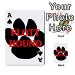 Plott Hound Name Paw Playing Cards 54 Designs  Front - SpadeA