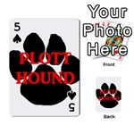 Plott Hound Name Paw Playing Cards 54 Designs  Front - Spade5