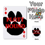 Plott Hound Name Paw Playing Cards 54 Designs  Front - Diamond9