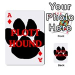 Plott Hound Name Paw Playing Cards 54 Designs  Front - DiamondA