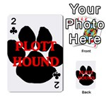 Plott Hound Name Paw Playing Cards 54 Designs  Front - Club2
