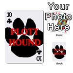 Plott Hound Name Paw Playing Cards 54 Designs  Front - Club10