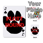 Plott Hound Name Paw Playing Cards 54 Designs  Front - ClubJ