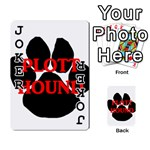 Plott Hound Name Paw Playing Cards 54 Designs  Front - Joker1
