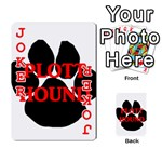 Plott Hound Name Paw Playing Cards 54 Designs  Front - Joker2