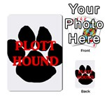 Plott Hound Name Paw Playing Cards 54 Designs  Back