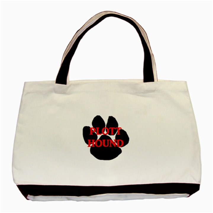 Plott Hound Name Paw Basic Tote Bag