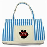 Plott Hound Name Paw Striped Blue Tote Bag Front