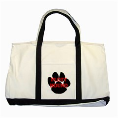 Plott Hound Name Paw Two Tone Tote Bag