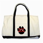 Plott Hound Name Paw Two Tone Tote Bag Front