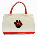 Plott Hound Name Paw Classic Tote Bag (Red) Front