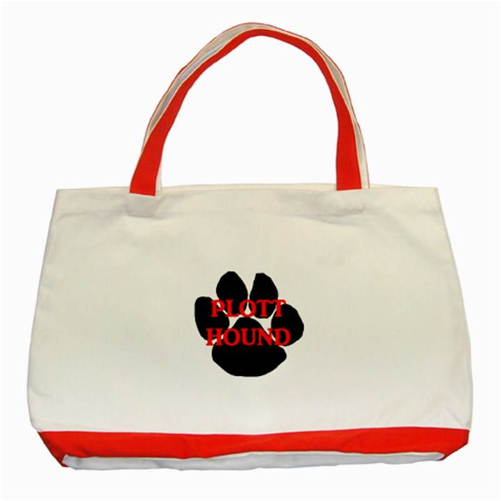 Plott Hound Name Paw Classic Tote Bag (Red)