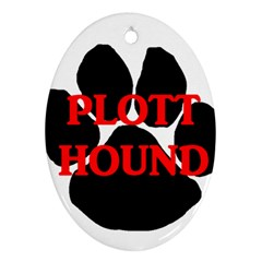 Plott Hound Name Paw Oval Ornament (Two Sides)