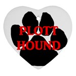 Plott Hound Name Paw Heart Ornament (2 Sides) Front