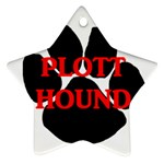 Plott Hound Name Paw Star Ornament (Two Sides)  Front