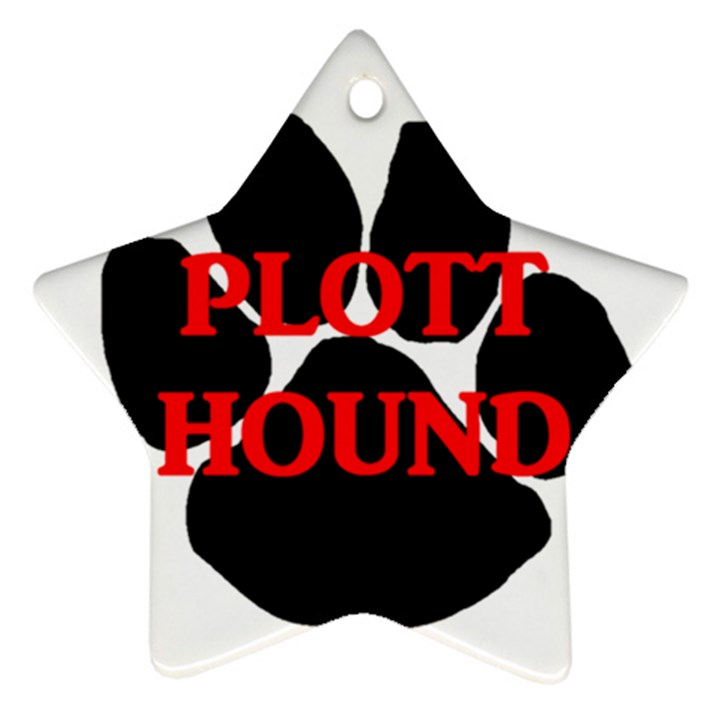 Plott Hound Name Paw Star Ornament (Two Sides)