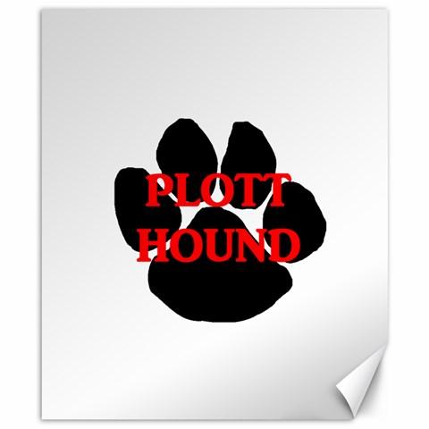 Plott Hound Name Paw Canvas 8  x 10