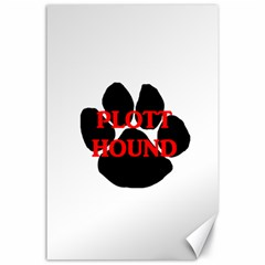 Plott Hound Name Paw Canvas 24  X 36