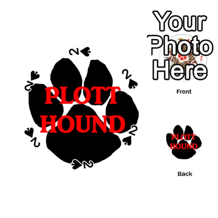 Plott Hound Name Paw Playing Cards 54 (Round)