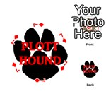 Plott Hound Name Paw Playing Cards 54 (Round)  Front - Diamond7