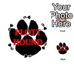 Plott Hound Name Paw Playing Cards 54 (Round)  Front - Spade9