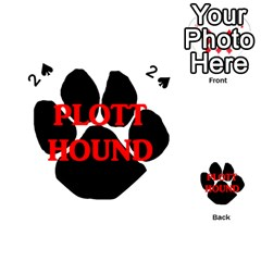 Plott Hound Name Paw Playing Cards 54 (heart)