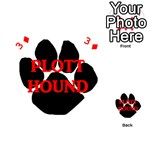 Plott Hound Name Paw Playing Cards 54 (Heart)  Front - Diamond3