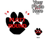 Plott Hound Name Paw Playing Cards 54 (Heart)  Front - Diamond5