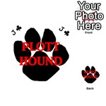Plott Hound Name Paw Playing Cards 54 (Heart)  Front - ClubJ