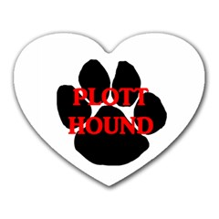 Plott Hound Name Paw Heart Mousepads