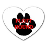 Plott Hound Name Paw Heart Mousepads Front