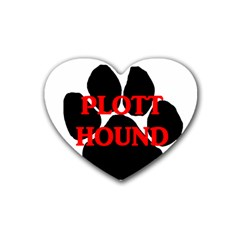 Plott Hound Name Paw Heart Coaster (4 pack)