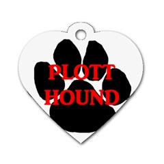 Plott Hound Name Paw Dog Tag Heart (Two Sides)