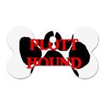 Plott Hound Name Paw Dog Tag Bone (Two Sides) Front