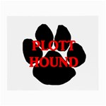 Plott Hound Name Paw Small Glasses Cloth (2-Side) Back