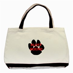Plott Hound Name Paw Basic Tote Bag (Two Sides)