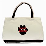 Plott Hound Name Paw Basic Tote Bag (Two Sides) Back