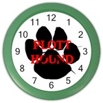 Plott Hound Name Paw Color Wall Clocks Front