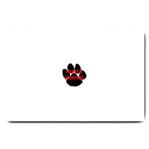 Plott Hound Name Paw Large Doormat