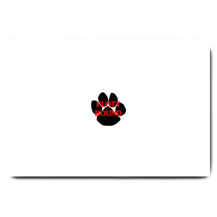 Plott Hound Name Paw Large Doormat